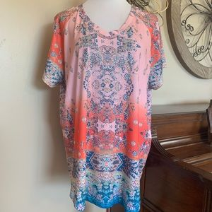 NWT Gloria Vanderbilt Size 1X Embellished Top